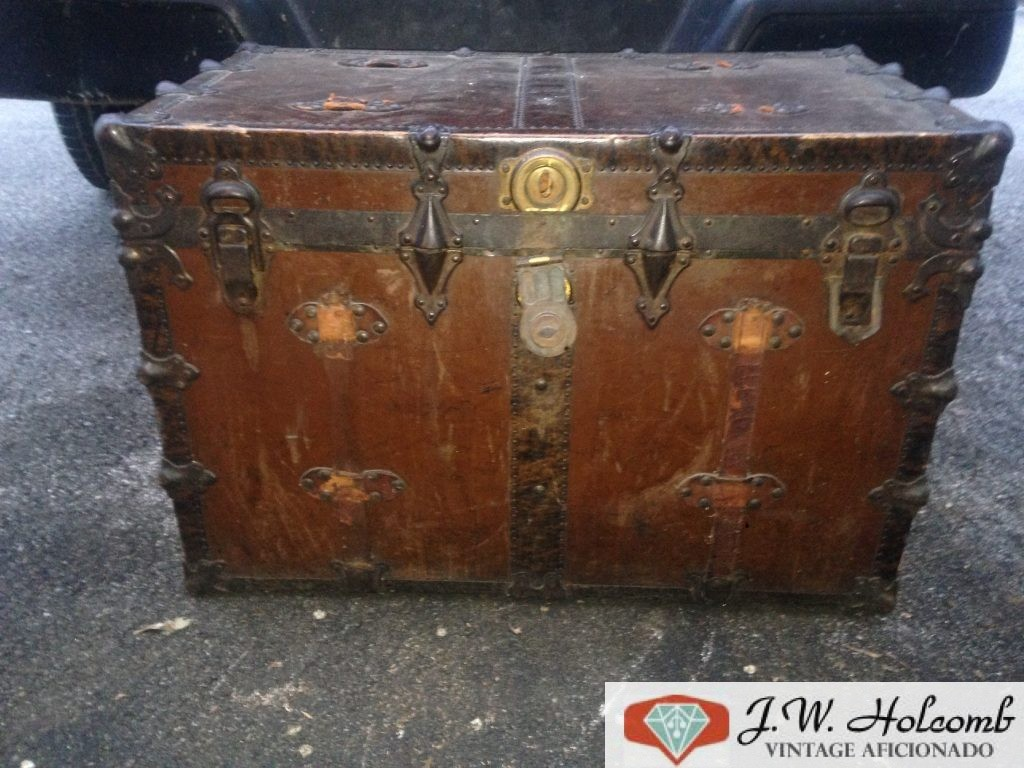 Antique Steamer Travel Trunk