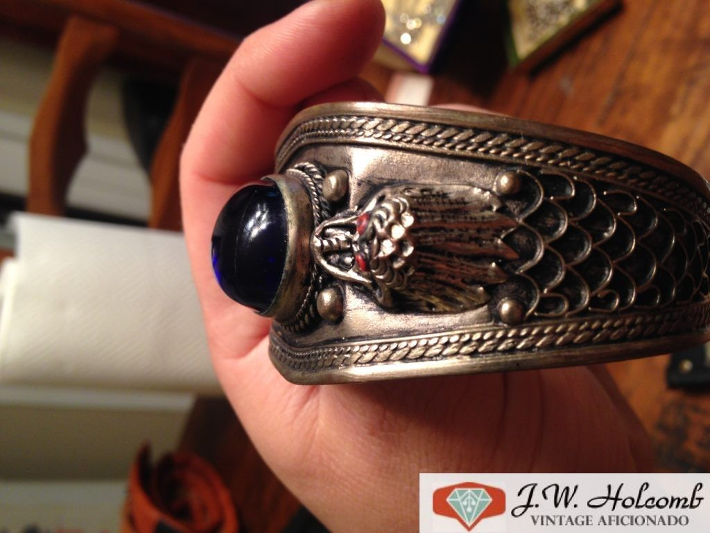 Asian Silver dragon Bracelet Weird