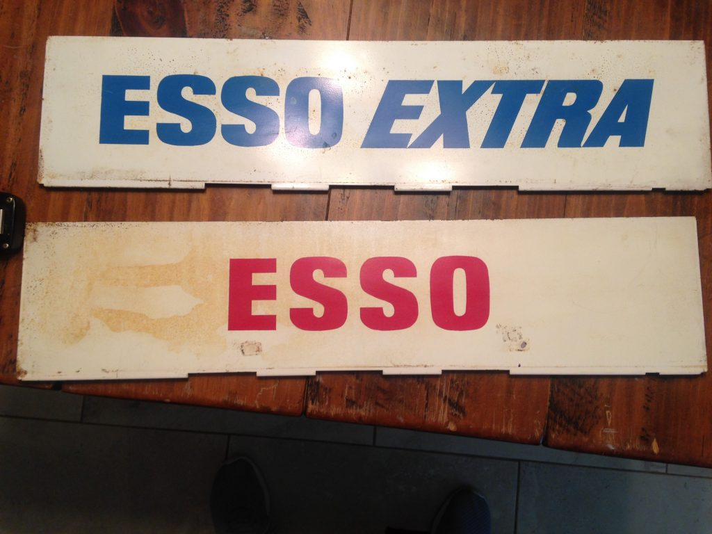 Vintage Metal Esso Signs Gas Advertising