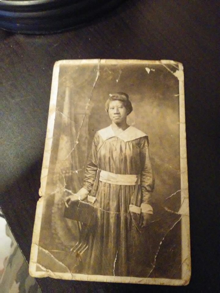 Black Americana RPPC Postcard Lady In Gown