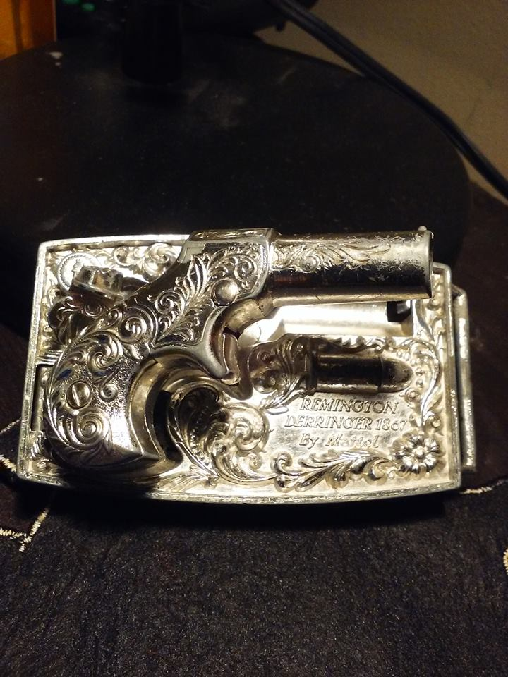Remington Cap Gun Belt Buckle