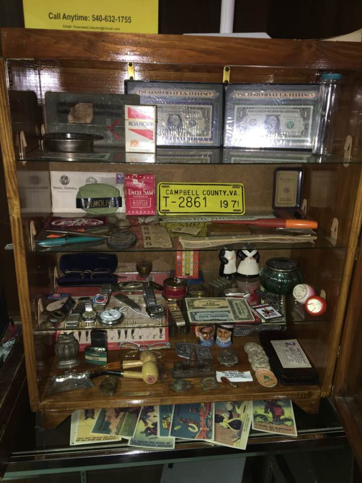 Vintage Knick Knack Collection Display