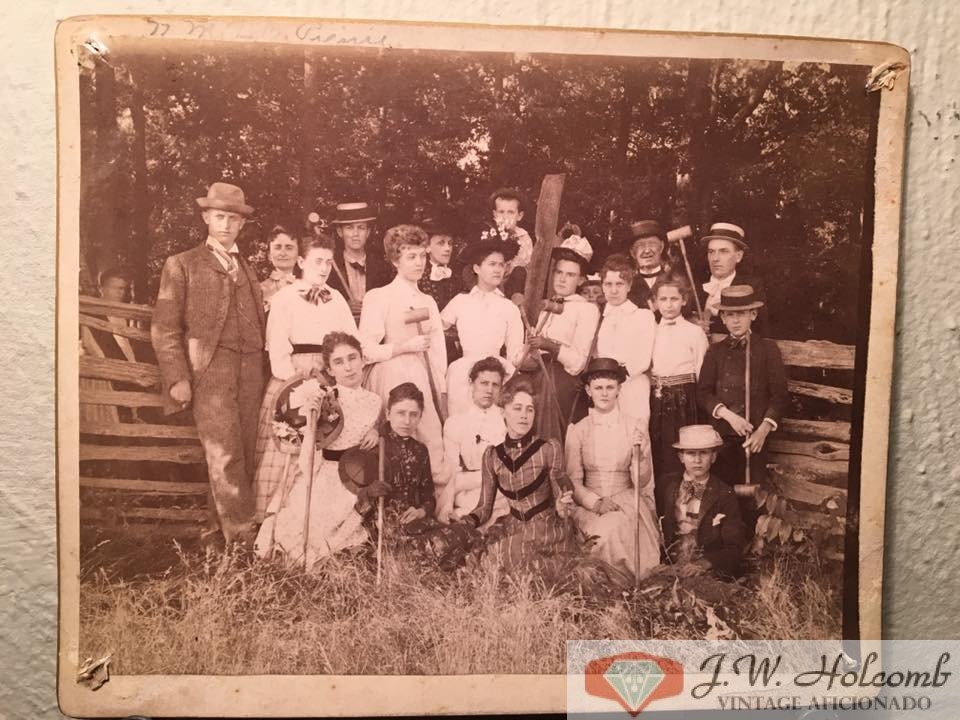 1880s Playing Croquet Group CDV Cabinet Card Antique Photo