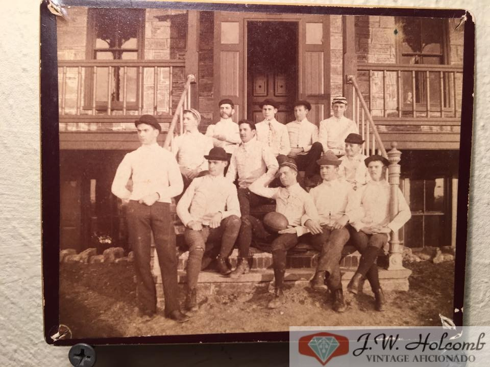 1889 Rugby Team CDV Cabinet Card Antique Photo