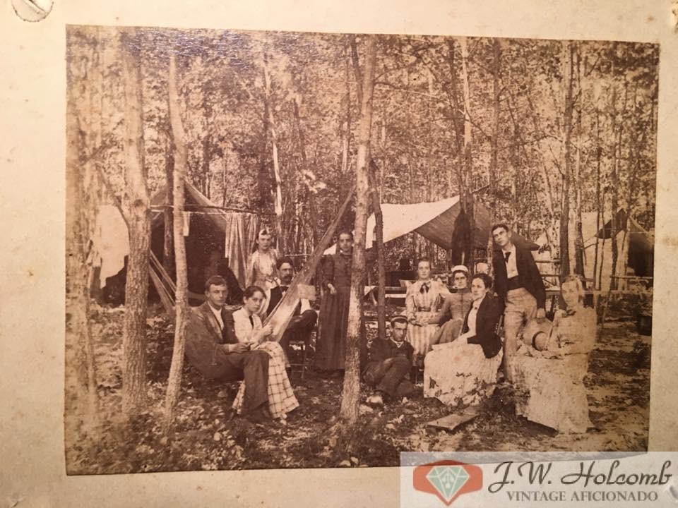 1890 Camping CDV Cabinet Card Photo