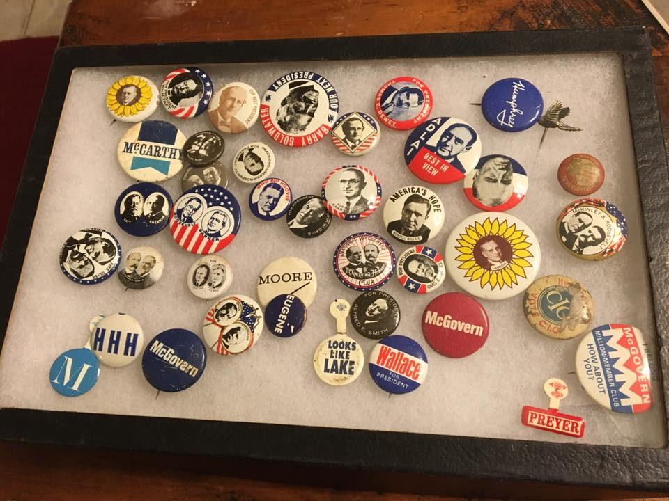 Political Campaign Buttons Pin Back Collection