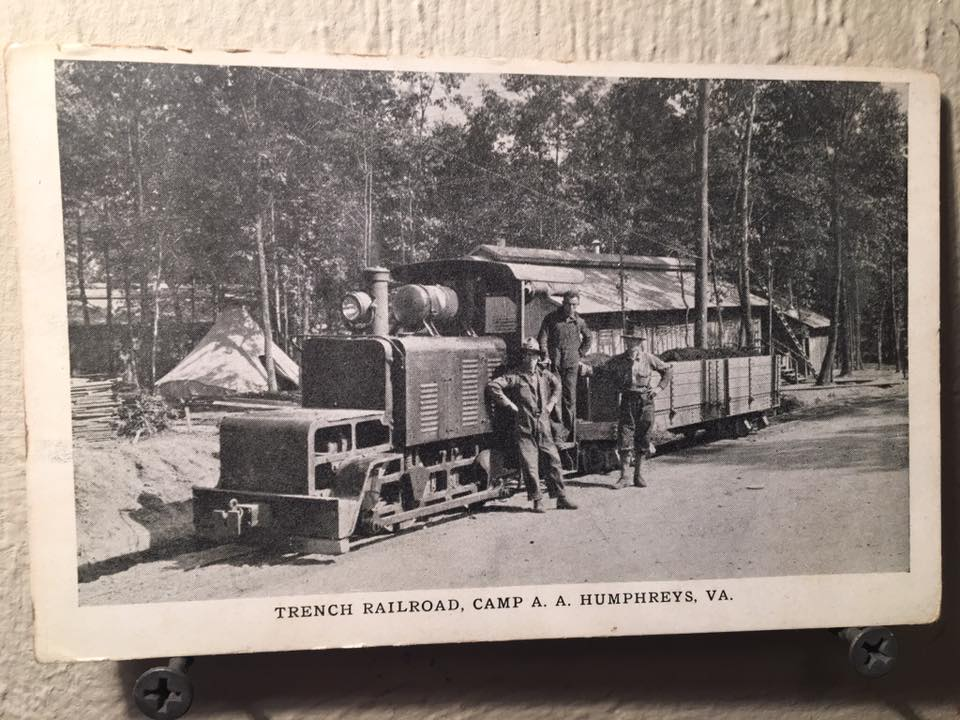 Trench Railroad RPPC Camp AA Humphreys VA