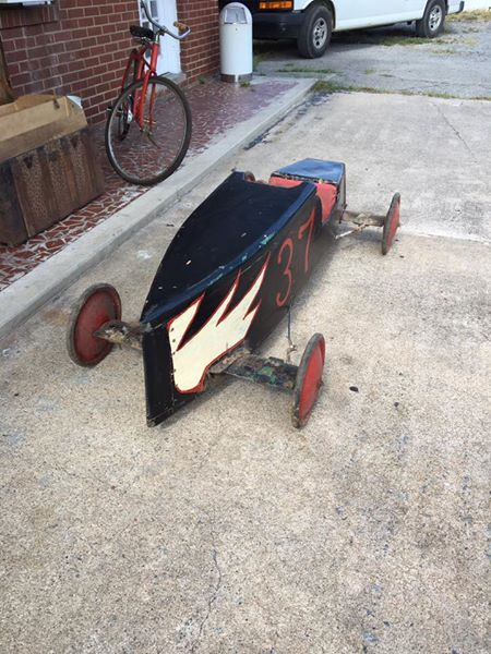 Vintage Soap Box Derby Car