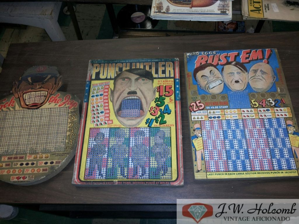 ww2 Hitler Gambling Punch Boards