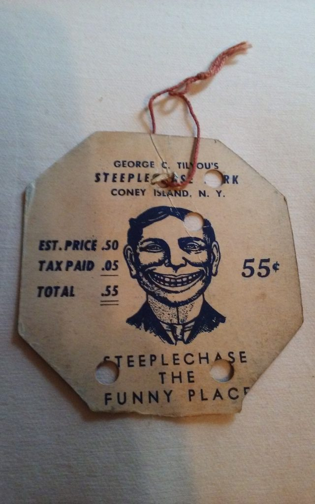Goerge C Tilyou Coney Island Ticket Steeplechase
