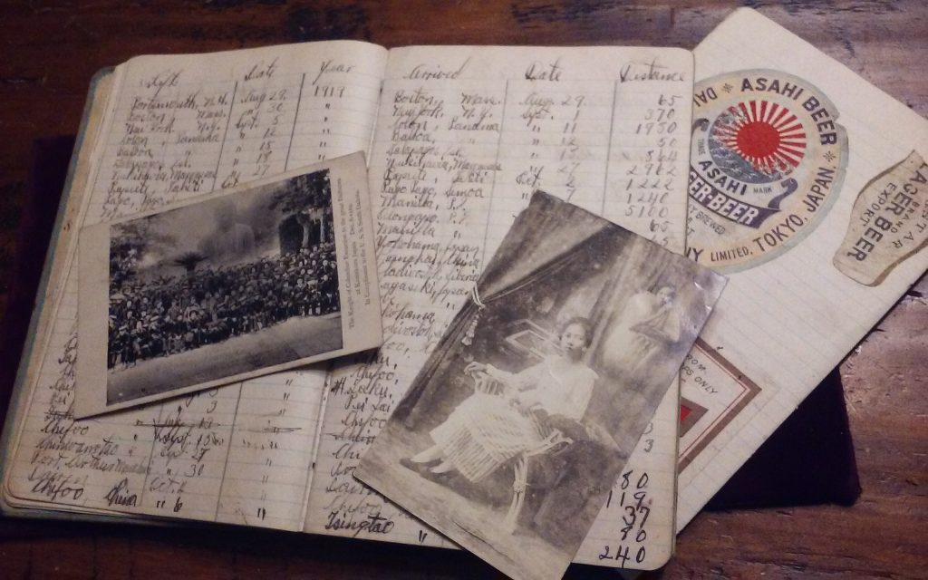 USS South Dakota Log book and Photos